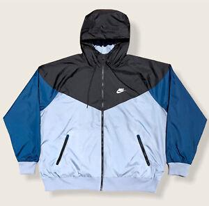 EUC Nike Sportswear NSW Windrunner Full-Zip Running Jacket Mens XL Black/Slate