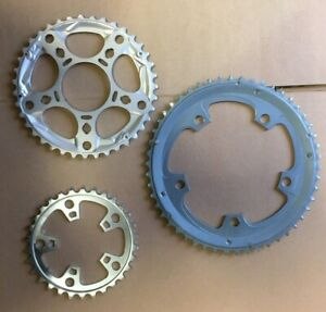 Shimano Tiagra 4603 Chainrings Triple 10 Speed  30T 39T 50T 5 Bolt