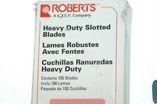 Roberts - Heavy Duty Slotted Blades - 100 Blades -  No. 10-438