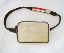 PRADA beige waist bag messenger hand purse fanny pack shoulder small sport