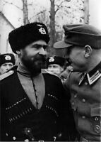 WWII photo Cossack from the 1st Cossack division of the Wehrmacht with a Ger 126