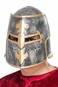 Adult Medieval Crusader Helmet Templar Knight Fancy Dress Party Accessory