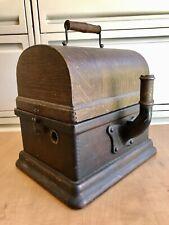 Edison Fireside Cylinder Phonograph Untouched Original Case with Cygnet Bracket