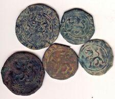 Cincin19,LOTES, Interesante 5 Monedas Maravedies de Reyes Catolicos,CUENCA