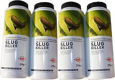 4 x 275g BOTTLES OF SLUG KILLER - BLUE MINI PELLETS - FOR SLUGS & SNAILS - NEW