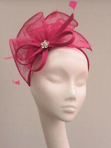 Magenta Pink Sinamay Fascinator