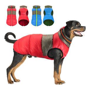 Waterproof Medium Large Dog Vest Coat Reflective Pet Warm Clothes Down Jackets