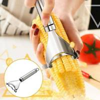 Stainless Steel Corn Slicer Peeler Thresher Cob Cutter Strip Remover Kernel Tool