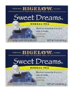 Bigelow Sweet Dreams Herbal Tea Bags 2 Box Pack