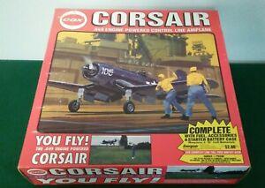 1993 Blue Cox Marines Corsair Model Airplane w/.049 Engine & Sealed Box