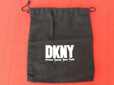 "DKNY  Small Black Flannel Purse Dust Cover Bag Storage 7""  X 8"". (p6)"