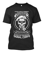 Signal Corps New Men's Shirt American Army Military Navy Cool Amazing Casual Tee
