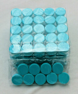 LOT OF 134 EMPTY COSMETIC SAMPLE CONTAINERS AQUA BLUE MAKEUP LIP BALM