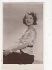 Janet Gaynor Vintage Plain Back Photo Card Actress 568a