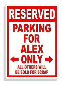 Personalized Parking Sign Wall Decal Metal Sign No Parking Customized Alex