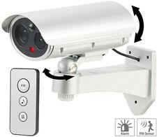 Caméra de surveillance factice avec détecteur de mouvement et fonction alarme -