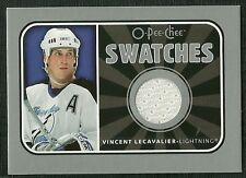 VINCENT LECAVALIER 06-07 O-PEE-CHEE SWATCHES GAME USED JERSEY  LIGHTNING