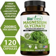 Biofinest Chelated Magnesium Glycinate 200mg - Organic Gluten-Free Non-GMO -...