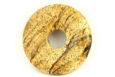 LANDSCHAFTSJASPIS Donut 30mm Anhänger / JASPER PICTURE Donut DO595