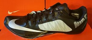NEW Nike Zoom SUPERFLY R4 Silver Black Men 12 Women 13.5 Track Cleats 526626 007