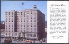 Vintage Daniel Boone Hotel Charleston West Virginia Color Postcard Unused