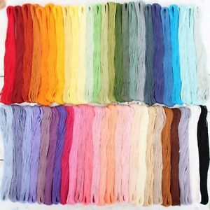 Box of 12 Premium Cotton Embroidery Floss in 50 Colors - Hand Embroidery Thread
