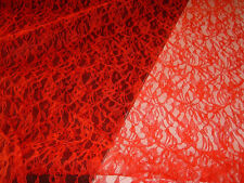 Red allover lace fabric 3 yds  (D604)