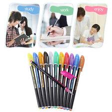 12 Colors Glitter Gel Pen Set Colorful Highlighter Drawing Marker Stationery