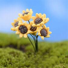 2Pcs Miniature Micro Sunflowers Fairy Garden Landscape Bonsai DIY Decoration