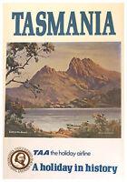A1 SIZE POSTER  PRINT VINTAGE OLD TRAVEL  TASMANIA AUSTRALIA