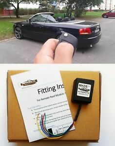 AUDI A4 CABRIO CONVERTIBLE KEY FOB REMOTE ROOF CONTROL SMART TOP MODULE BY MKDS