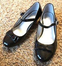 Cherokee Youth Girls Haisley Black Patent Bow Rhinestone Mary Jane Dress Shoes