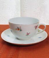 Vintage bavaria porcelain teacup & saucer Germany U.S. Zone