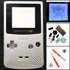 GBC Nintendo Game Boy Color Frontlit Frontlight Front Light Mod Kit Silver