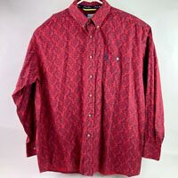 Wrangler George Straight Button Paisley Long Sleeve Shirt Mens XXL Cowboy Cut A4