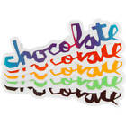 "Chocolate Skateboards Chocolate Chunk Sticker 5.25"" x 1.25"" Various Colors"