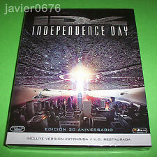 INDEPENDENCE DAY BLU-RAY NUEVO Y PRECINTADO EDICION 20 ANIVERSARIO SLIPCOVER