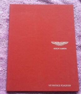 ASTON MARTIN AM V8 Vantage Roadster Broschüre Prospekt catalogue brochure