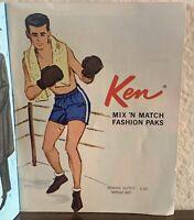 Vintage Barbie Ken Doll 1963 PAK Boxing Outfit MINT - COMPLETE
