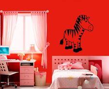 Wall Stickers Vinyl Decal Zebra Animal for Kids Baby Room Nursery (ig1015)