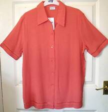 BRAND NEW PEACHY PINK VISCOSE BLEND TOP BLOUSE SIZE 12 #78