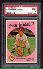 1959 Topps #452 Chico Fernandez PSA 9 MINT Philadelphia Phillies
