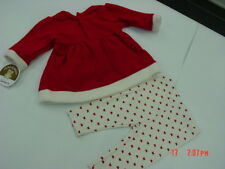NWT Infant Girl 2 Piece outfit Carter's Fleece Top Leggings Red White Bows Xmas