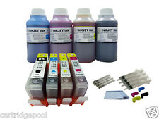 4x250ml refill ink+4 Ink cartridges for HP564 Deskjet 3070a 3520 3521 printer 1P