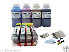 4x250ml refill ink+4 Ink cartridges for HP564 Deskjet 3070a 3520 3521 printer 1P