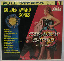 Crazy Otto At The Piano-Golden Award Songs 33rpm LP Decca DL 78919 VG+/VG+