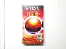 TDK HS 180 VHS, Video-Kassetten Cassette, Neu & OVP