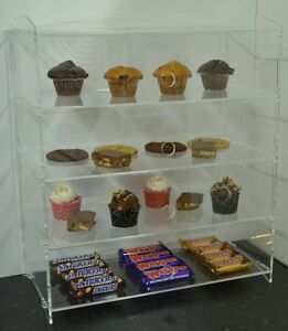 Bakery Pastry Display Case Stand Cabinet Cakes Donuts Cupcakes Perspex Acrylic