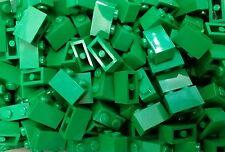 *NEW* Lego Bulk Green 1x2 Bricks Blocks Garden Walls Forest Buildings 20 pieces