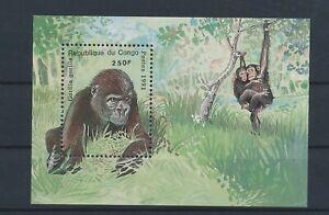 LO56345 Congo 1991 monkey animals wildlife good sheet MNH